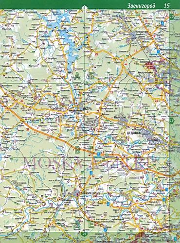 Карта Рузского района.