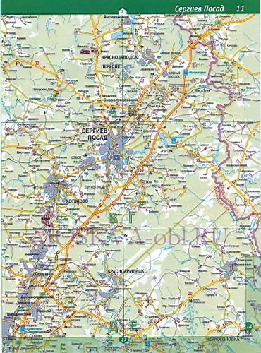 Карта Сергиево-Посадского