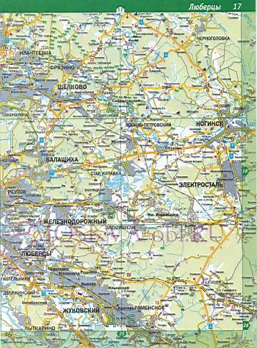 Карта Щелковского района.